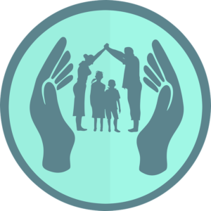 Hands surrounding a family -Home Insurance Protects Your Family